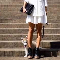 Pure leather #emmetrend #fashionista #fashionblogger #clutch #leather #heels #puppy #dog #streetchic #streetstyle