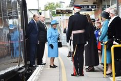 The Queen and the Duke of Edinburgh arrived at Prince Charles's 'Utopian' Poundbury villag...