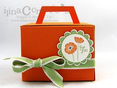 For you box and Tags using Stampin Up Punch Bunch