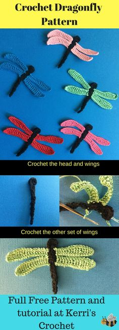 Learn how to crochet this dragonfly appliqué with my free video tutorial and pattern.