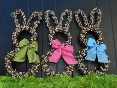 Mini Easter Wreath - Bunny Wreath - Spring Wreath  - Easter Decoration - Door Decoration by EverBloomingOriginal on Etsy https://www.etsy.com/listing/125934647/mini-easter-wreath-bunny-wreath-spring
