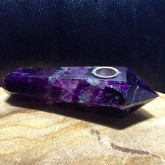 Source: 420weedmart.com  This is handmade Purple Fluorite Crystal Pipe amethystore.com