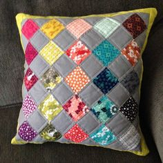 All done! So happy. Modern patchwork pillow cushion