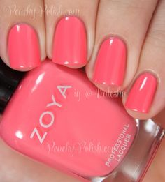 Zoya: Summer 2014 Tickled and Bubbly Collection: Wendy Coral Nail Polish, Coral Nails, Nail Polishes, Diy Nails, Cute Nails, Pretty Nails, Colorful Nail Designs, Cute Nail Designs, Manicure Y Pedicure