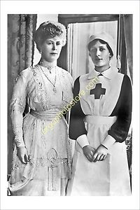p257 ROYALTY UK British Queen Mary Princess Mary Red Cross nurse VAD uniform WW1 | eBay