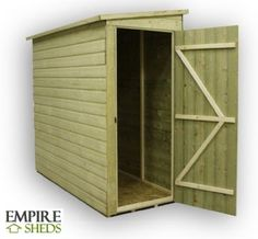 Empire Pent Shed 5X3 Pressure Treated Tongue U0026 Groove £249