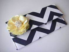 Items similar to SET OF 6 - Bridesmaids Clutch In Navy Chevron, Wedding Clutch, Fold Over Clutch, Bridesmaids Accessories on Etsy Bridesmaid Clutches, Wedding Gifts For Bridesmaids, Bridesmaid Accessories, Navy Chevron, Wedding Clutch, Real Weddings, Wedding Planner, Wedding Inspiration, Unique Jewelry