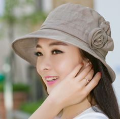 Fashion flower bucket hat for women package outdoor UV sun hats