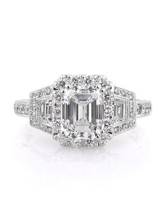 3.00ct Emerald Cut Diamond Engagement Ring