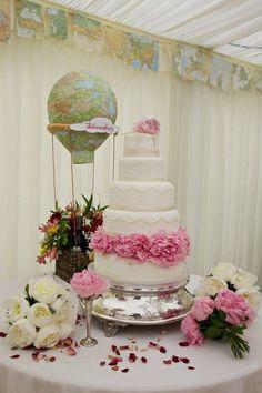 Travel theme wedding