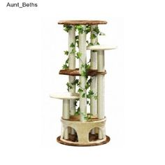 Kitty Condo Cat Tree Scratching Post Tower Condos Scratcher Trees Cave Tunnels This Kitty Condo Cat Scratching Post is beautiful, functional, and downright fun for your felines!  Contrasting brown,...