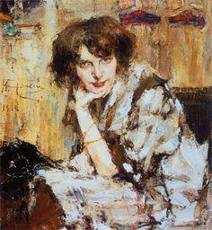 Молодая женщина (1912). Фешин, Николай