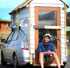 Check out this man's homemade Prius tiny home on wheels | Inhabitat - Sustainable Design Innovation, Eco Architecture, Green Building