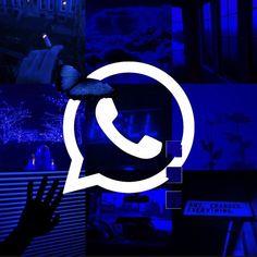 Whatsapp logo 💙 | Dark wallpaper iphone, Iphone wallpaper themes, Blue wallpaper iphone