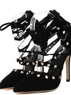 Cheap high heels shoes woman, Buy Quality high heel shoes directly from China heel shoes woman Suppliers: DiJiGirls Roman Sandals Women Pumps New Style Booties Ladies Sexy Hollow Cross Lace Up Rivets Stiletto High Heels Shoes Woman High Heel Pumps, Strappy High Heels, Lace Up Heels, Women's Pumps, Studded Heels, Sandal Heels, Suede Pumps, Women's Sandals, Gladiator Heels