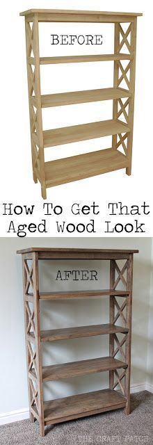 Give your wood furniture that old world charm with this finishing technique. Gorgeous!