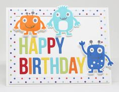 Monster Love Stamp Set and Die-namics, Stitched Rectangle Frames Die-namics, Happy Birthday to You Die-namics - Jody Morrow  #mftstamps
