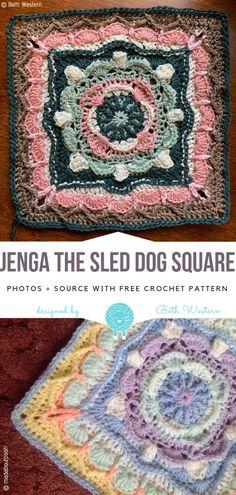 Crochet Afghans, Crochet Square Blanket, Crochet Squares Afghan, Granny Square Crochet Pattern, Afghan Crochet Patterns, Crochet Motif, Free Crochet, Knitting Patterns, Vintage Crochet Patterns