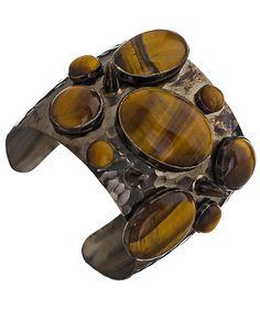 Tigers eye chunky cuff bracelet