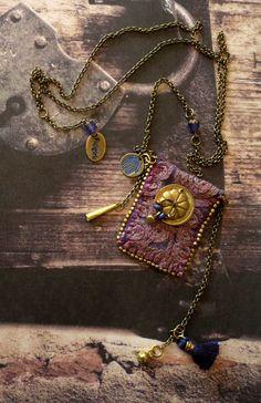 Collier gypsy spirit - hippie bohemian  collier boho - urban gypsy - bijoux textile - bohémian vintage - collier tribal tissu - FUJIGIRLS