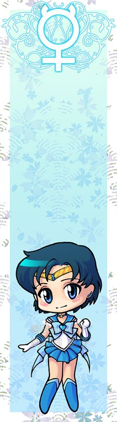 Sailor Mercury bookmark by *Marc-G on deviantART