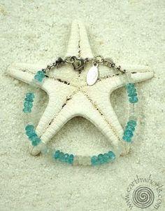 Blue Topaz, Moonstone & Sterling Silver Bracelet - EarthWhorls, LLC