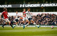 Dele Alli puts Spurs 1-0 up at home to Manchester United. Match ended 3-0. 10/04/16
