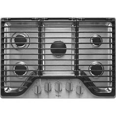 Save a lot of money at www.DiscountBandit.com. Seriously, check them out; they have the best deals on tons of stuff! Whirlpool 30 inch 5 Burner Gas Cooktop with EZ-2-Lift Hinged Cast-Iron Grates WCG97US0DS - Stainless Steel