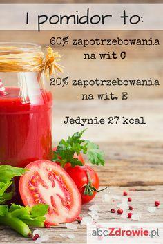 Pomidory mają mnóstwo witamin i pierwiastków mineralnych. Zawierają antyutleniacze, które chronią skórę przed wolnymi rodnikami i zapobiegają procesom szybkiego starzenia się tkanek. Pomidory wzmacniają odporność dzięki dużej zawartości witaminy C. Warzywa są małokaloryczne, więc mogą sobie na nie pozwolić nawet osoby na diecie.  #pomidor #pomidory #właściwości #witaminy #dieta #warzywa #tomato #tomatoes #diet #vitamins #abcZdrowie