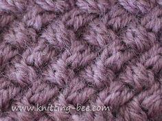 aran basket-weave knitting pattern
