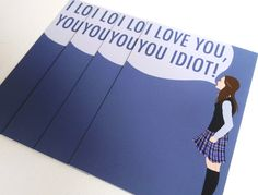 "4 PACK ""I Love You, You Idiot"" Postcards - Gilmore Girls quote, 4 cards. $6.00, via Etsy."
