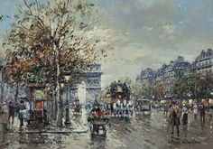 """Painting of the Day (AVAILABLE): Antoine Blanchard's """"Arc de Triomphe"""" - http://rehs.com/blog/2015/06/painting-of-the-day-available-antoine-blanchards-arc-de-triomphe/"""