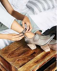 ankle wrap booties