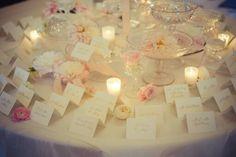 Wedding seating card table
