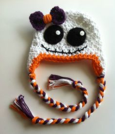 Little Girl Crochet Ghost Hat, Halloween, Photography Prop