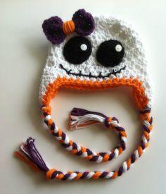 Little Girl Crochet Ghost Hat, Halloween, Photography Prop