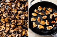 This Chicken Stroganoff recipe is loaded with tender chicken, a delicious sour cream sauce, and plenty of mushrooms. Chicken And Mushroom Stroganoff Recipe, Easy Ground Beef Stroganoff, Sour Cream Sauce, Campfire Food, Mushroom And Onions, Stuffed Mushrooms, Stuffed Peppers, Creamy Chicken, How To Cook Chicken