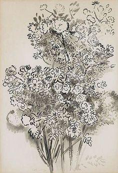 Karl Schrag: wild rose bush