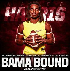 1 recruit Najee Harris chooses Alabama over Michigan Fall Football, Crimson Tide Football, Best Football Team, Alabama Football, Alabama Crimson Tide, College Football, Football Wall, Nick Saban, University Of Alabama