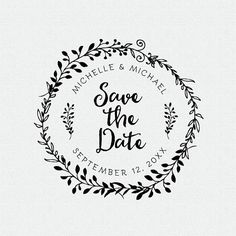 Save The Date Stamp Wedding Favors Self Inking Rubber