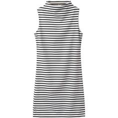 Choies High Neck Sleeveless Dress in Stripe (52.230 COP) ❤ liked on Polyvore featuring dresses, vestidos, short dress, choies, multi, striped sleeveless dress, white dresses, short dresses, white striped dress and short white dresses