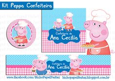 Kit Peppa Confeiteira cozinheira