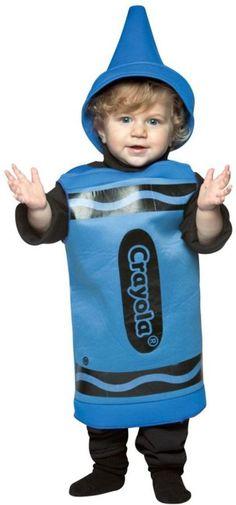 Toddler Boy's or Girl's Costume: Crayola Crayon , Blue 18-24 Months #RastaImposta #TunicandHat