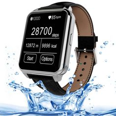 [USD58.23] [EUR51.81] [GBP40.70] F2 1.55 inch IPS Full View HD LCD Screen Waterproof Smartwatch with Leather Band for Smartphone, Bluetooth 4.0 / Heart Rate Sensor / Pedometer / Remote-control (Silver + Black)