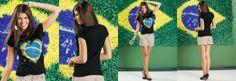 Blusa Estampa Bandeira Brasil