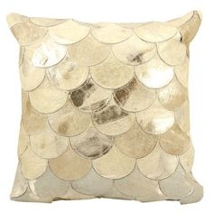 "Features:  -Zipper.  -Material: Natural hair on hide, metallic.  Product Type: -Throw pillow.  Style: -Contemporary.  Size: -20"" Square.  Shape: -Square.  Fill Material: -Polyester/Polyfill. Dimension"