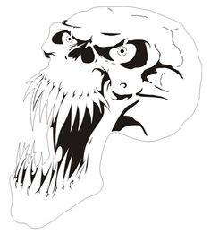 Free Airbrush Stencils Download | stencil skull picture - stencil picture skull and crossbones
