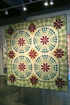 .Becky Goldsmith's quilt exhibit at Austin College.