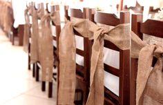 Jutové stuhy na stoličky