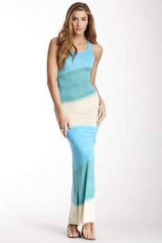 Tie Dye Tank Maxi Dress by American Twist